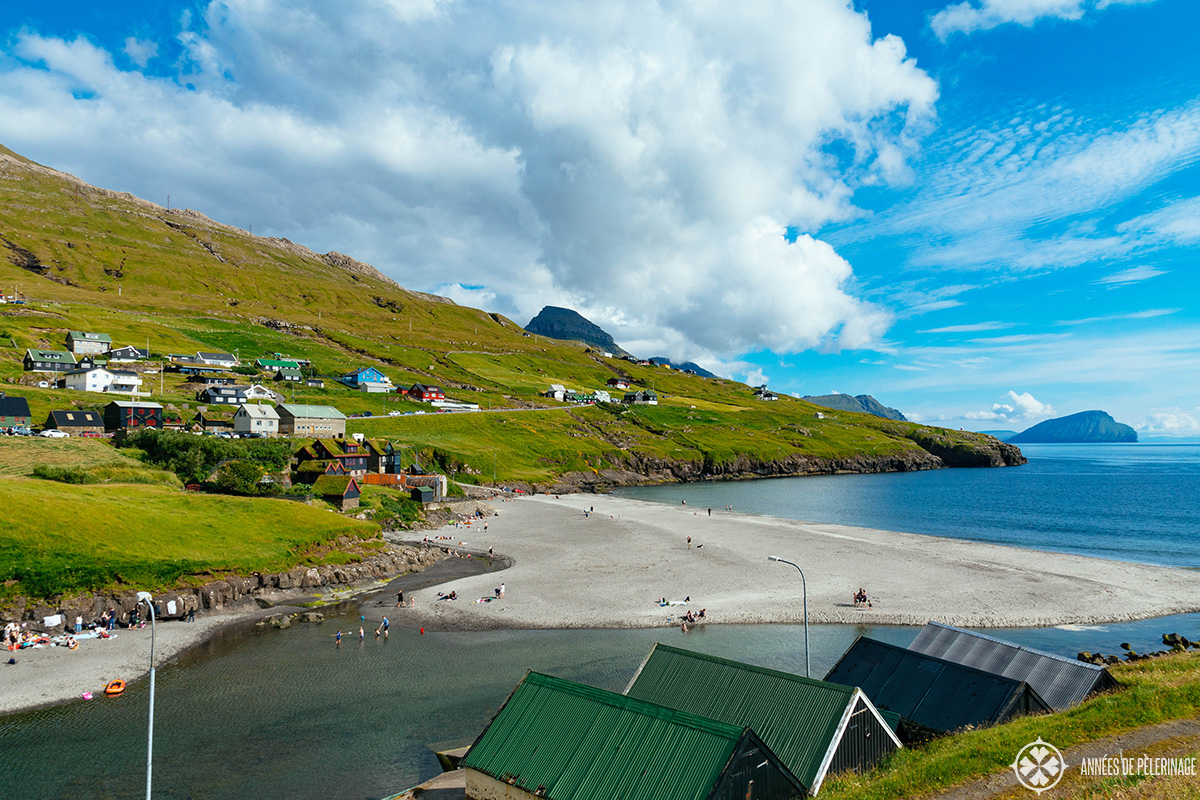 A pristine beach in the Faroe Islands
