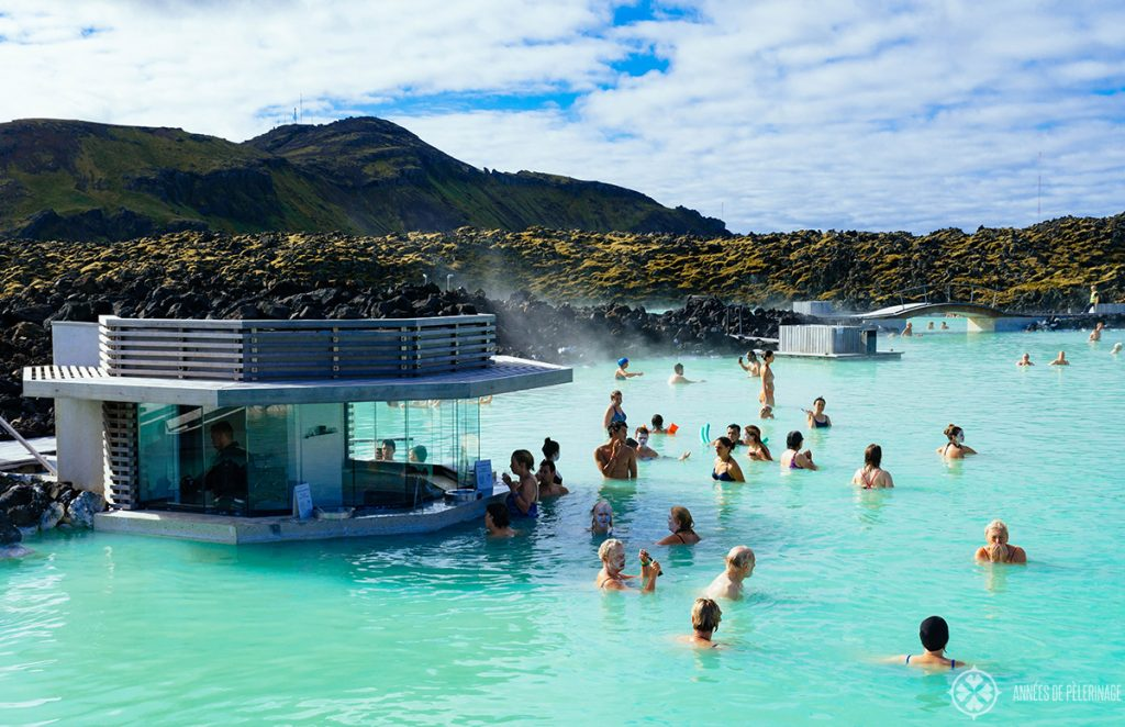 The bar at the blue lagoon in Iceland