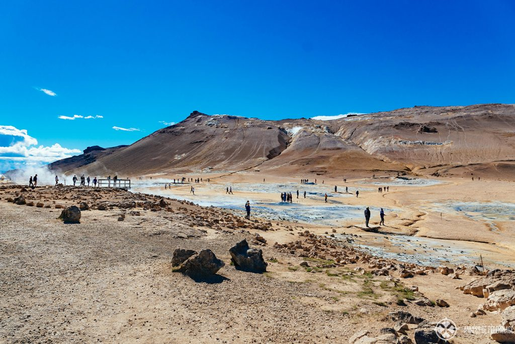 The heverir geothermal fiels near Myvatn in Iceland