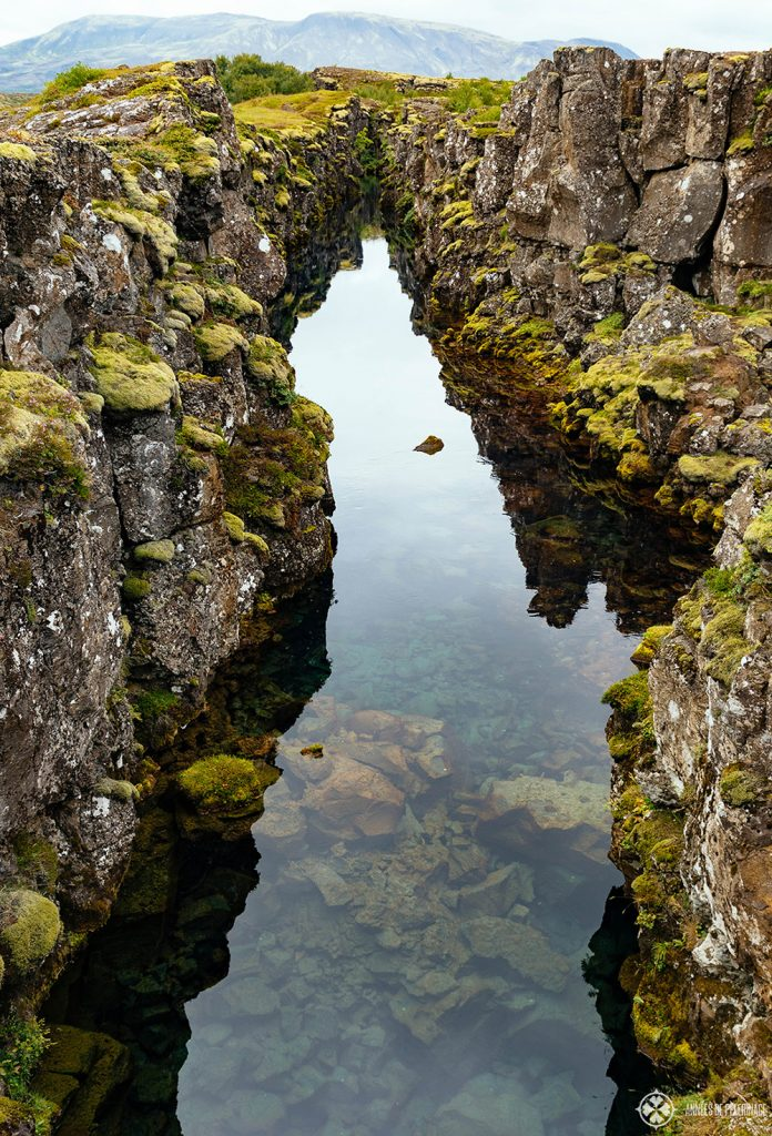 A ridge in thingvellir national park in Iceland