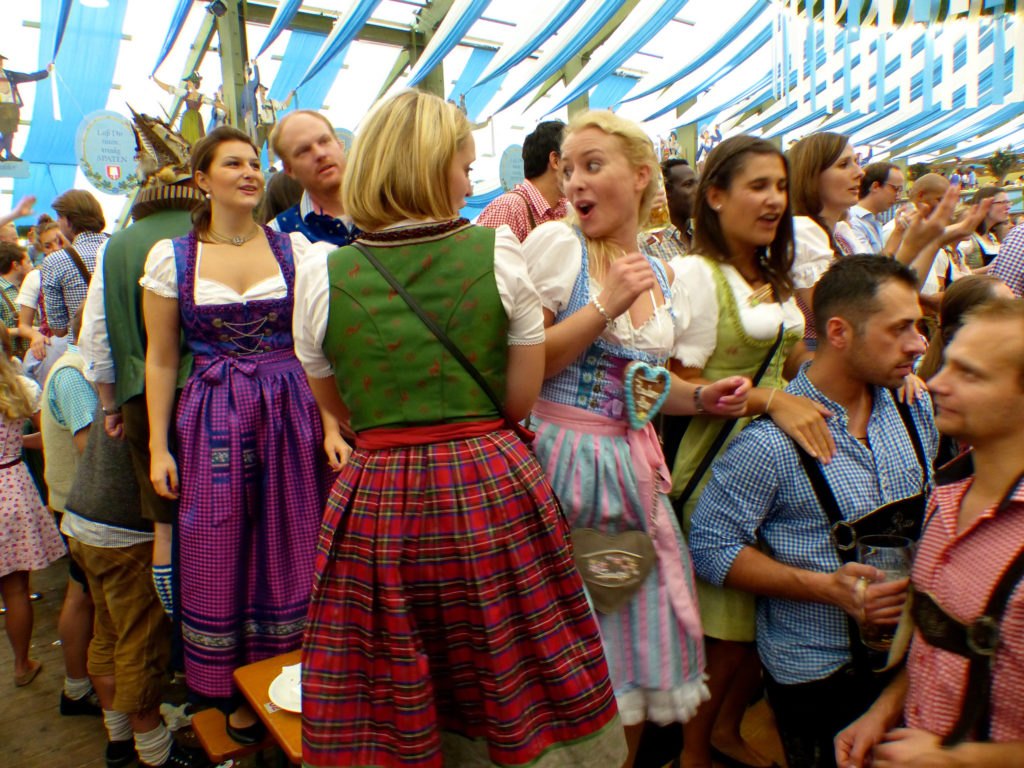 The usual party inside an Oktoberfest tent