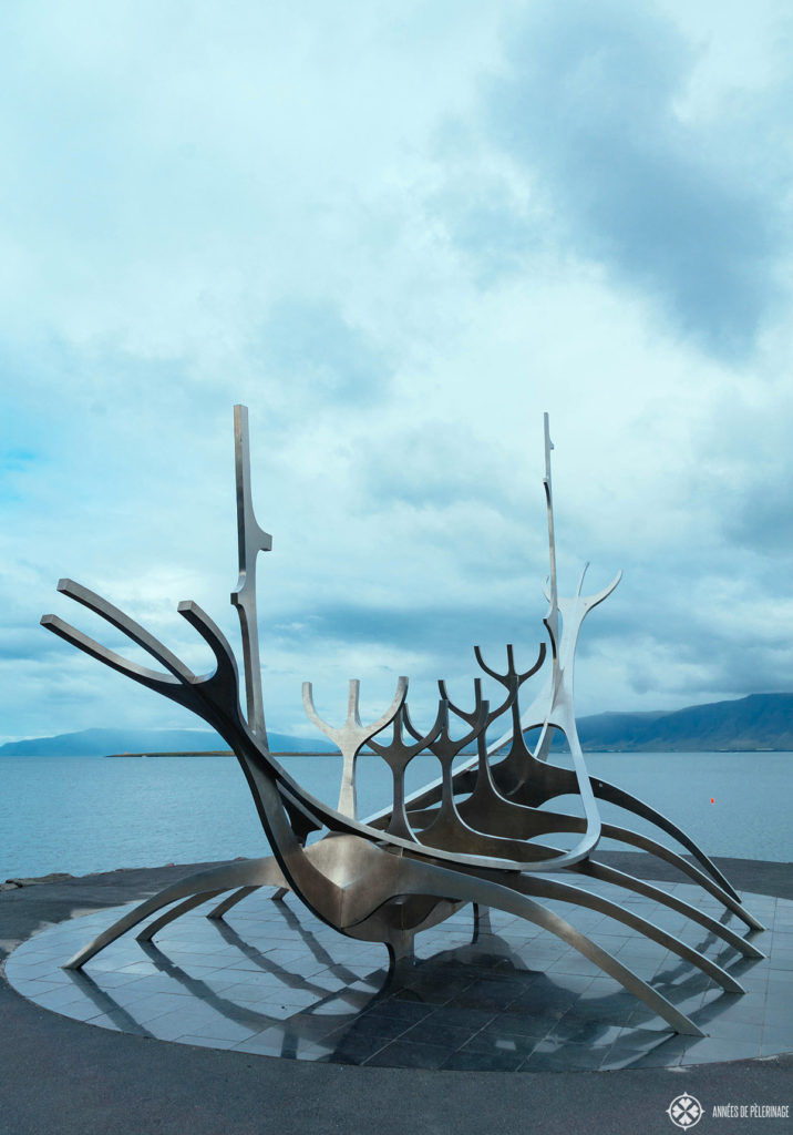The Sun Voyager along the habror of Reykjavik, Iceland - one of the many things to do in the Capital of Iceland