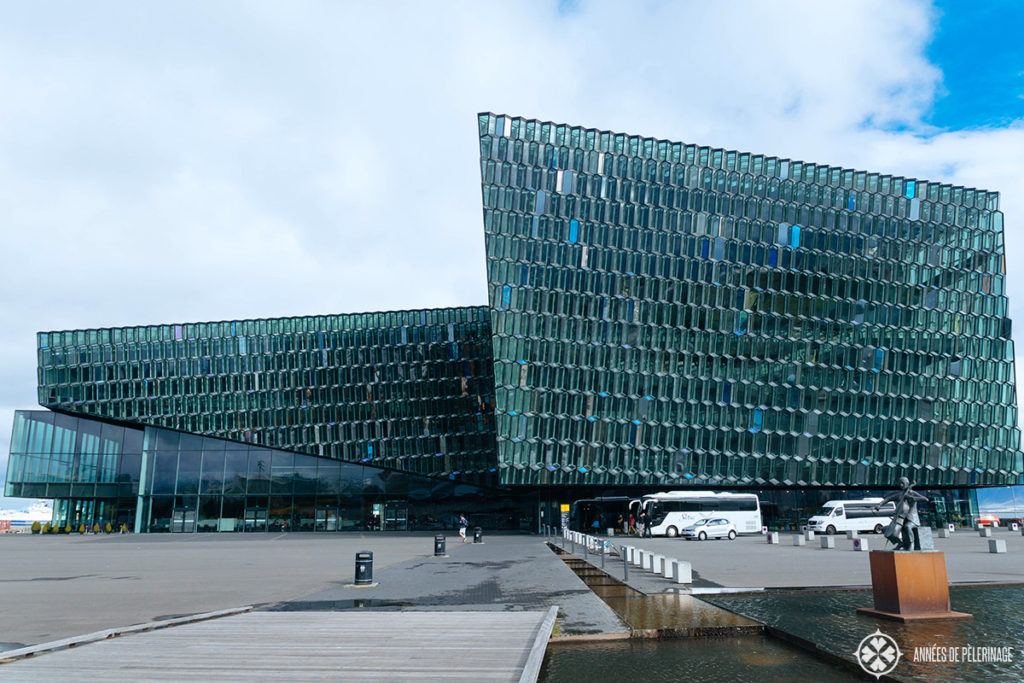 harpa concert hall near the harbor of reykjavik, Iceland