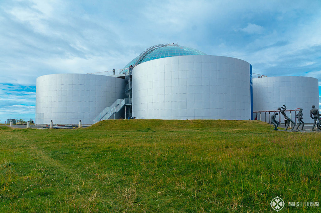 The Perlan museum complex on the hills above Reykjavik, Iceland.