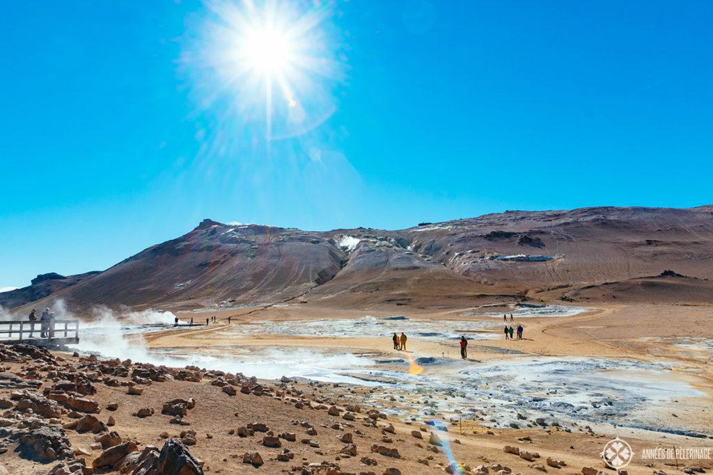 Hverir Lake Myvatn's geothermal area Iceland