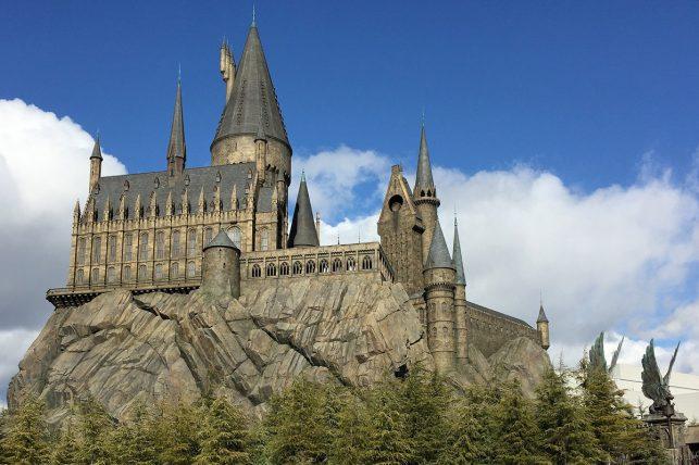 The hogwarts wizarding school at Osaka Universal Studios