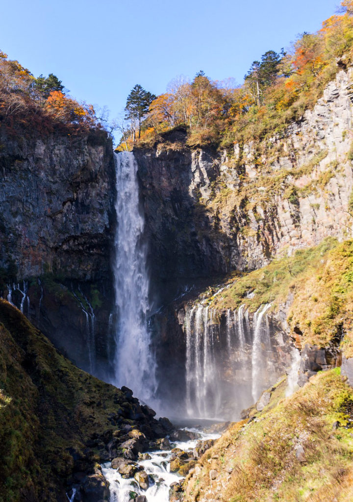The Kegon Falls (Kegon no Taki) near Nikko, Japan in late fall