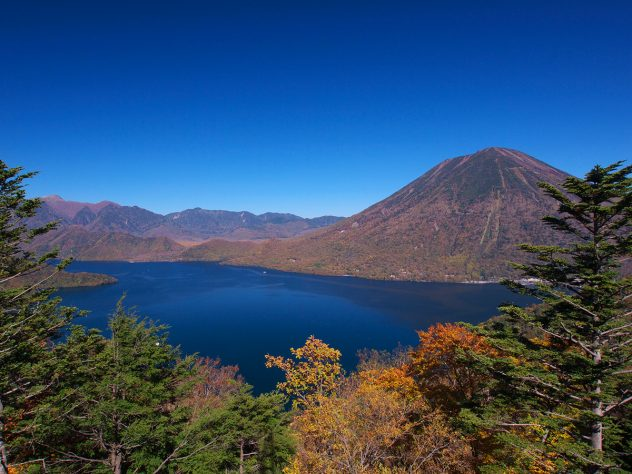 Lake Chūzenji, view from Mt. Hangetsu in late Autum. If you were wondering what to do in Nikko, a hike around the shore should be high on your list!