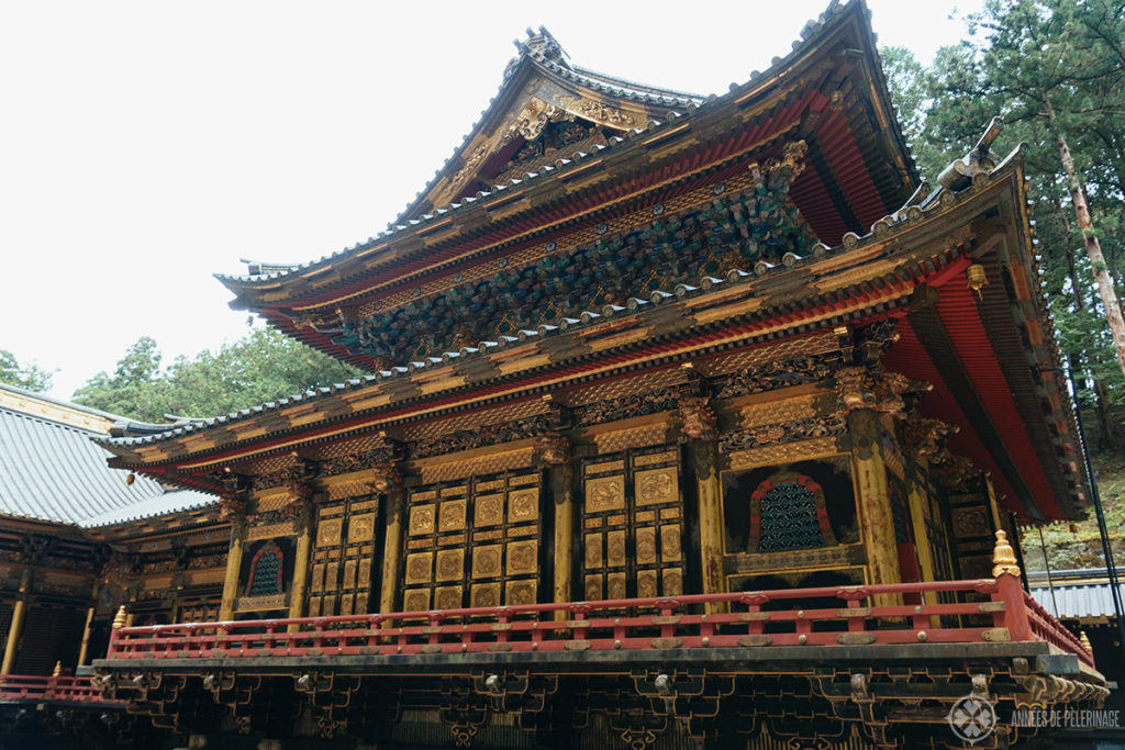 The mainhall (honden) of the Taiyuinbyo shrine in Nikko, Japan