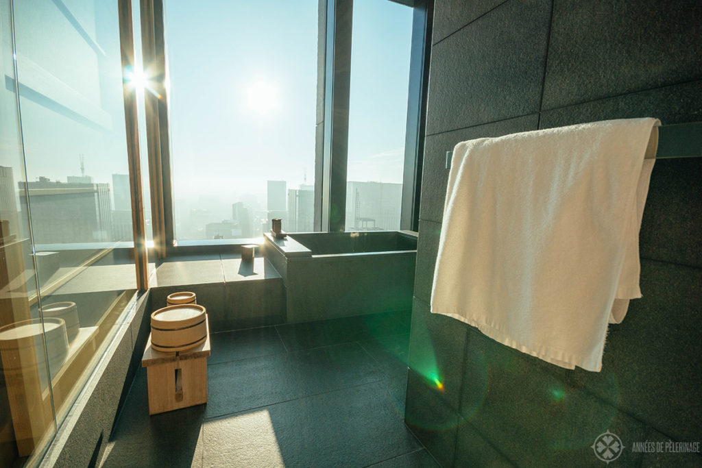 The bathtub of the Aman Tokyo