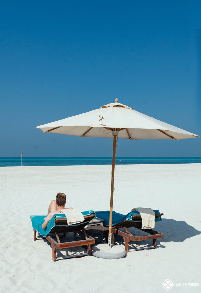 At the beach on Saadiyat Island, Abu Dhabi