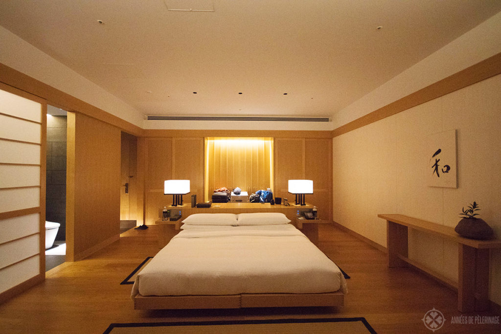 The bedroom of the Aman Tokyo