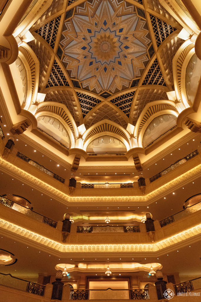 The Dome of the Emirates Palace Abu Dhabi - all gold and luxury within