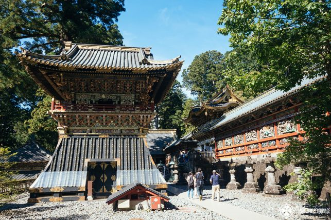 The grand drum towers at the Toshogu Shrine in Nikko, Japan