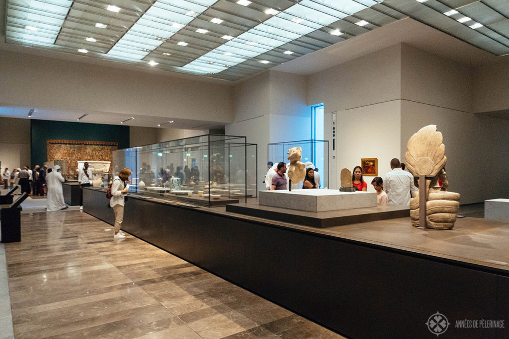 The exhibitions rooms of the Louvre Abu Dhabi