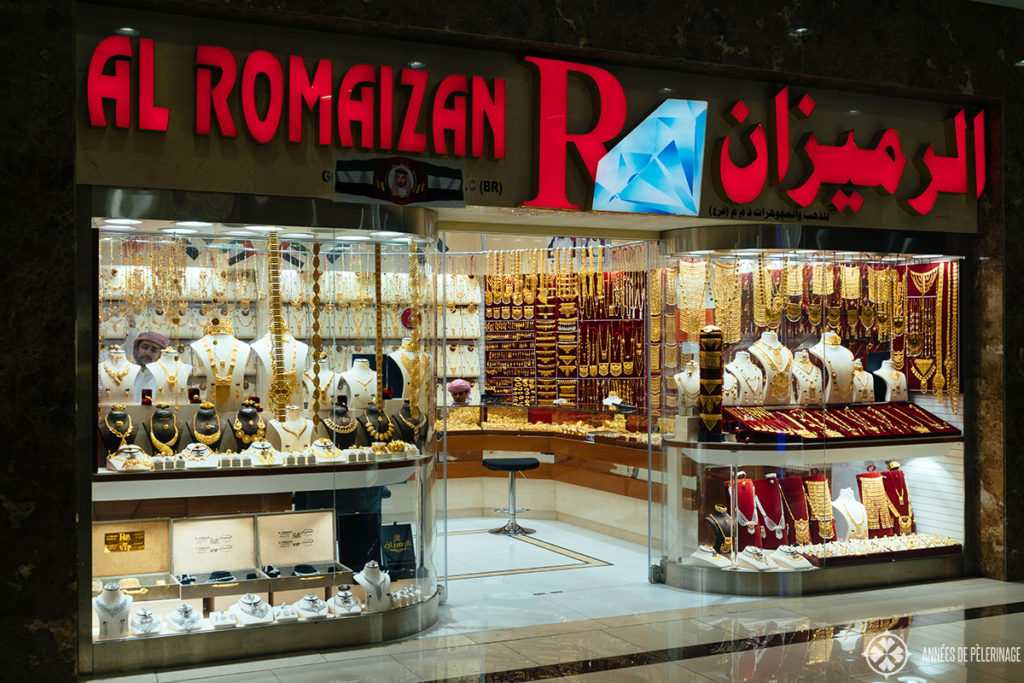 A shop in the gold souk Abu Dhabi