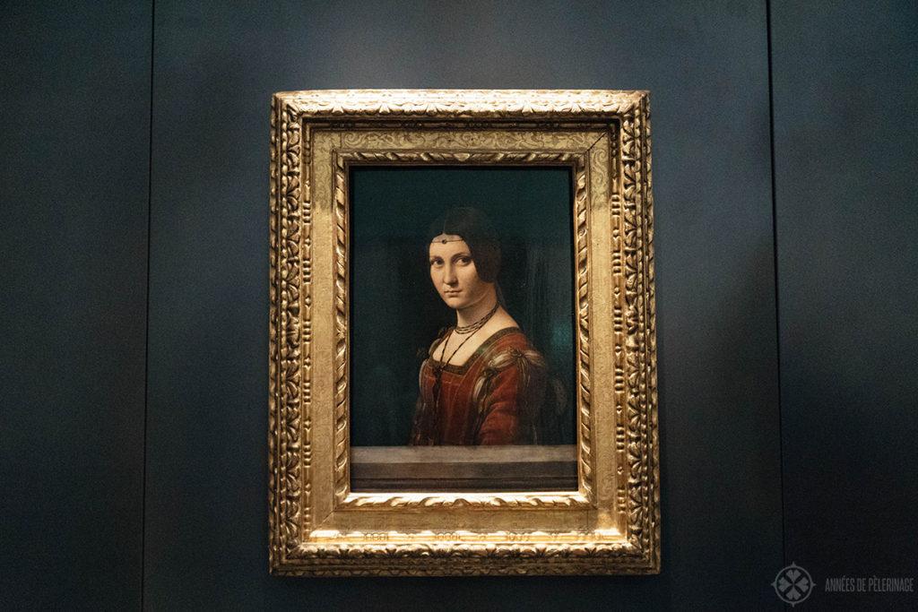 Leonardo Da Vinci's La Belle Ferronnière in the Louvre Abu Dhabi