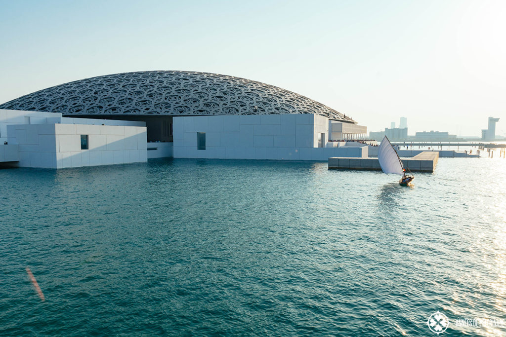 The grand cupola of the Louvre Abu Dhabi from outside