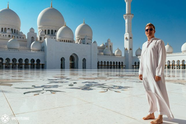 me at sheikh zayed mosque abu dhabi - a totally safe spot to visit