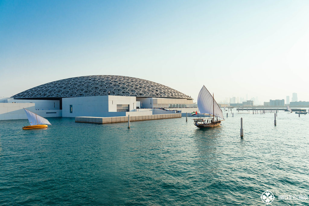The Louvre Abu Dhabi as seen from outside