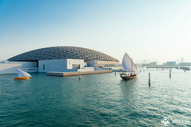 The Louvre Abu Dhabi as seen from outside - it is totally safe to visit!