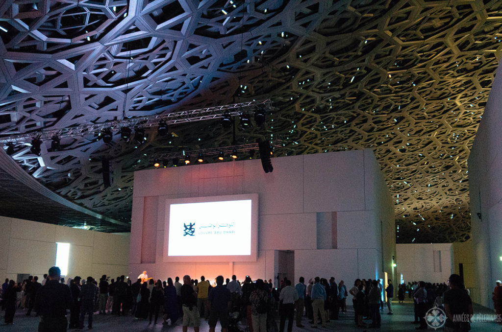 A performance during the opening date of the Louvre Abu Dhabi