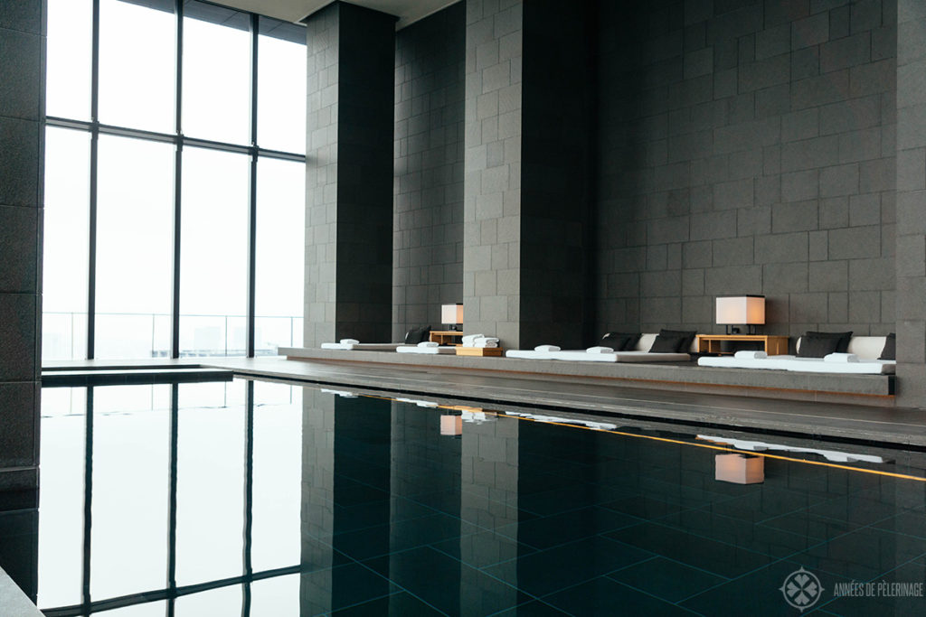 loung at the spa of the aman tokyo