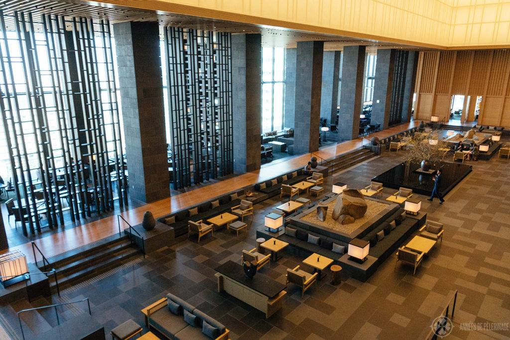 A view of the restaurant and bar at the Aman Tokyo resort