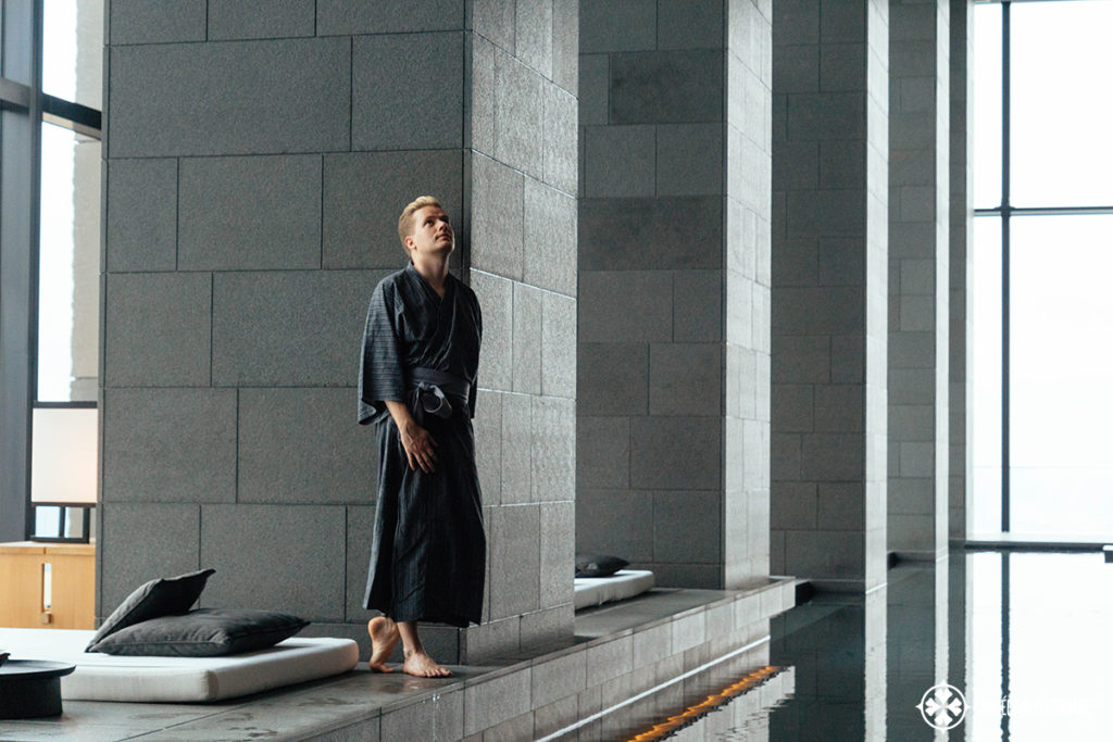 me at the spa of the aman tokyo