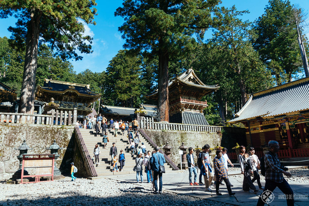 The main entrance to the Toshogu Shrine - one of the many things to do in Nikko, Japan