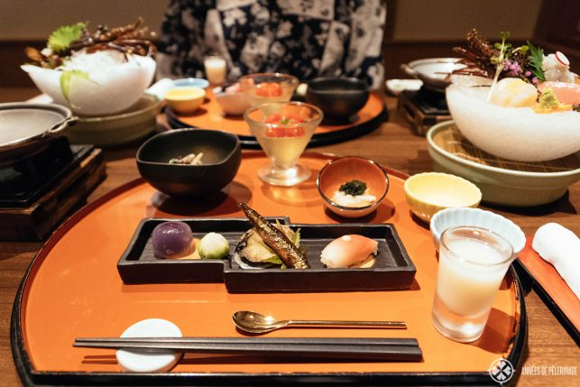 A traditional Kaiseki Dinner at a Ryokan in Nikko. If you are a foodlover, you really need to get a food travel book for japan