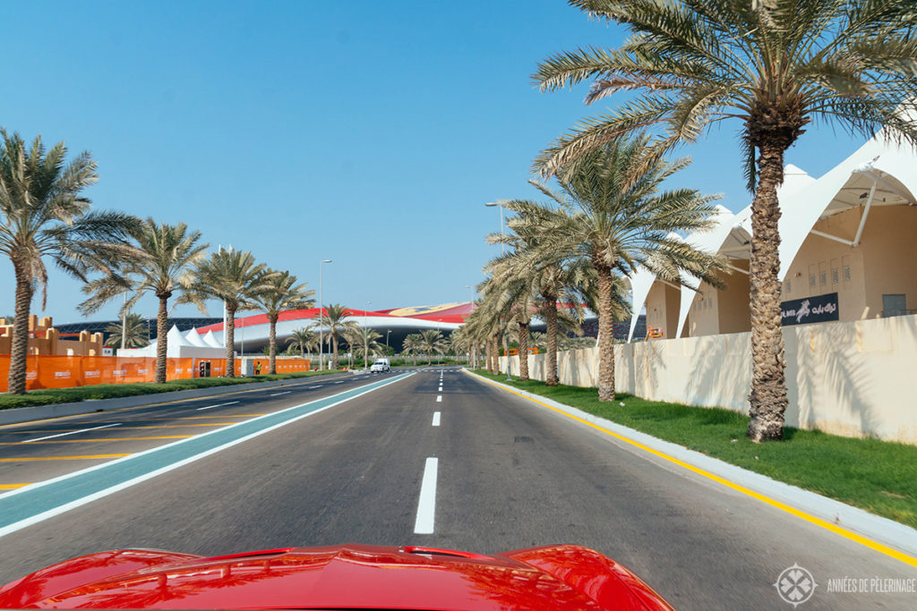 The ferrari driving experience at Yas Marin Circuit Abu Dhabi
