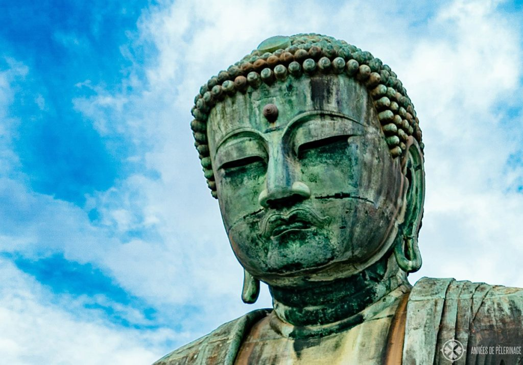 The head of the Great buddha - the top tourist attraction in Kamakura