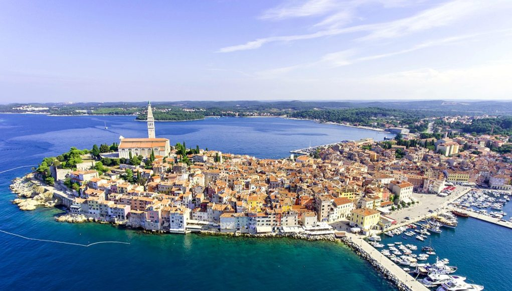 the old town of Rovinj in Istria, Crotia