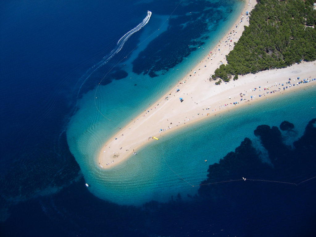The Brac peninsula from above - one of the best beaches and things to do in Croatia
