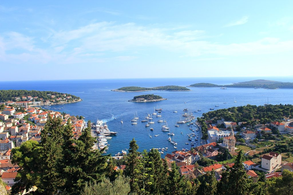The harbor of Hvar - one of the many small islands you absolutely have to visit in Croatia
