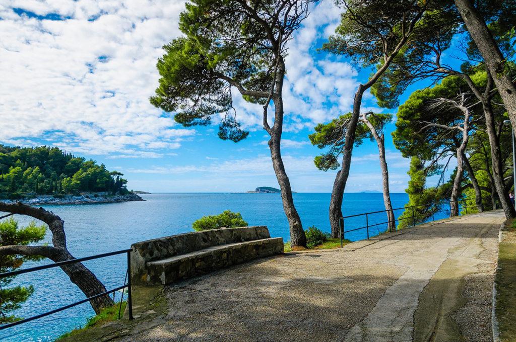 A beautiful walkway on hvar islands, Croatia