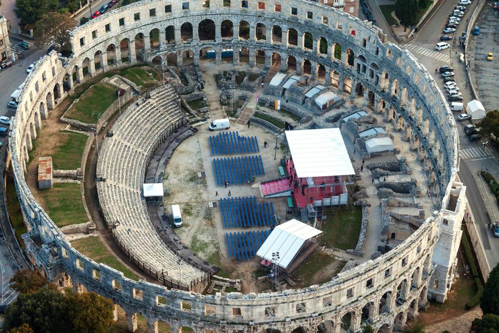The Roman arena in Pula, Istria, Croatia