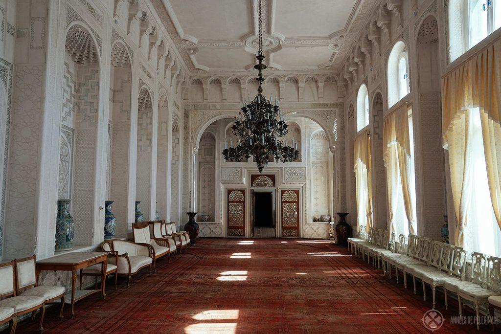 INside the Sitorai Mohki-Khosa Palace, near Bukhara Uzbekistan