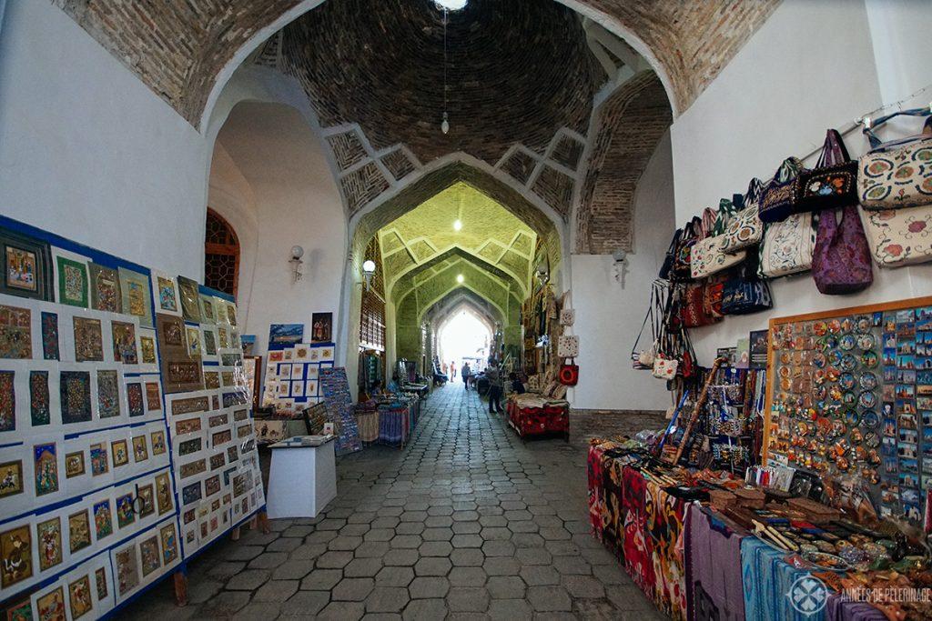 bazar trading domes bukhara uzbekistan