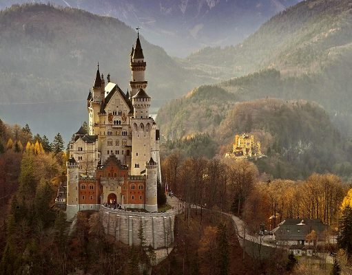 Neuschwanstein near Füssen in Germany one of the best castles near Munich, Germany