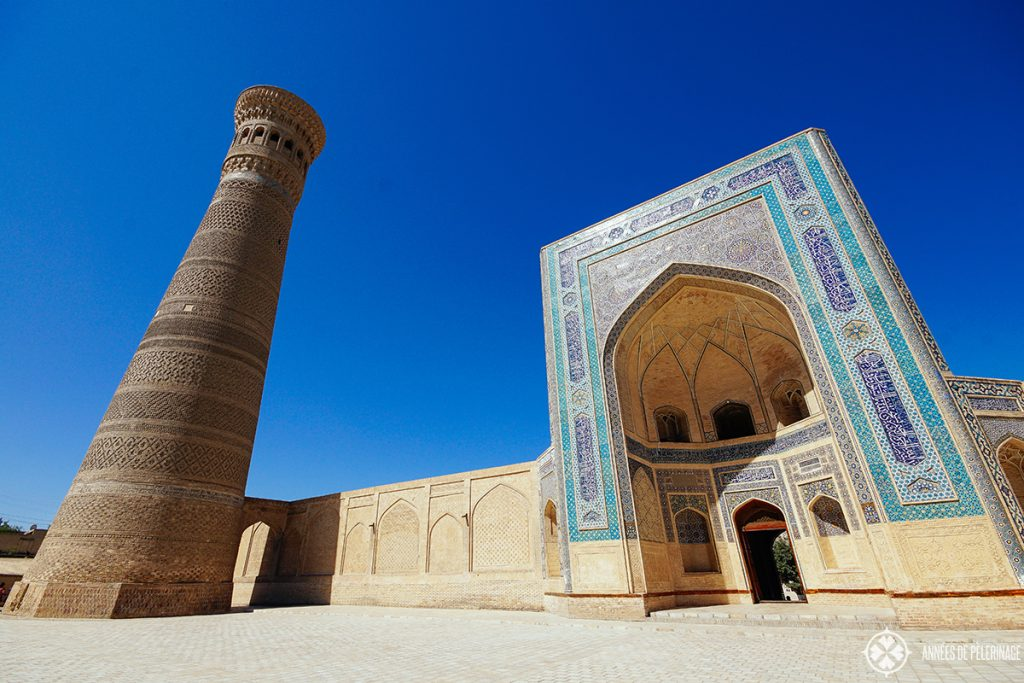 Entrance of the Kalan Mosque - one of the many things to do in Bukhara, Uzbekistan