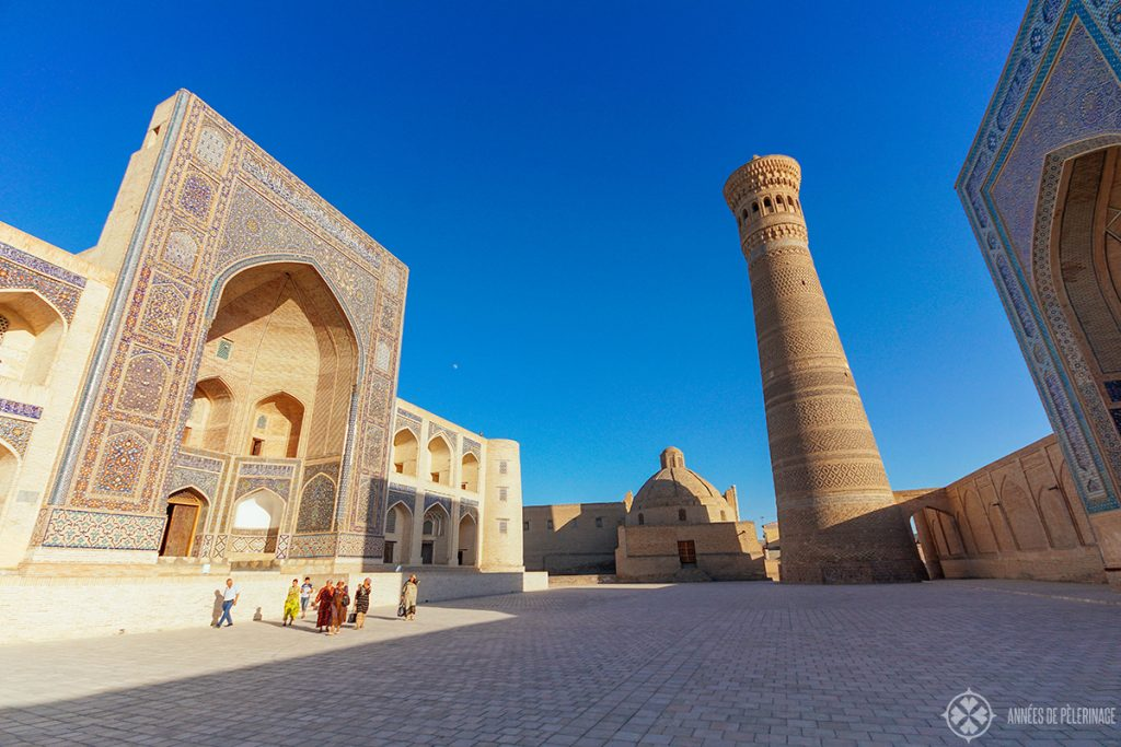 The Po-i-Kalyan COmplex in the morning in Bukhara, Uzbekistan