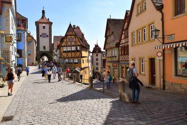 Medieval old town of Rothenburg ob der Tauber