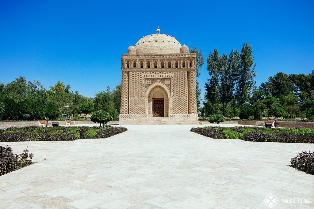 The ancient Samanid Mausoleum in Bukhara Uzbekistan
