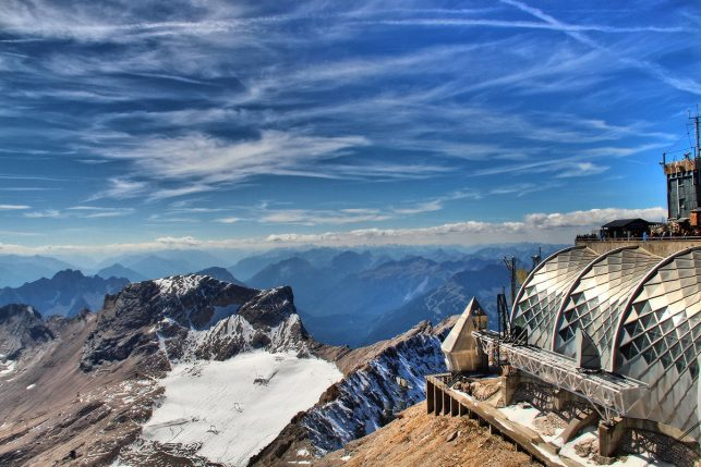 View from the top of the Zugspitze