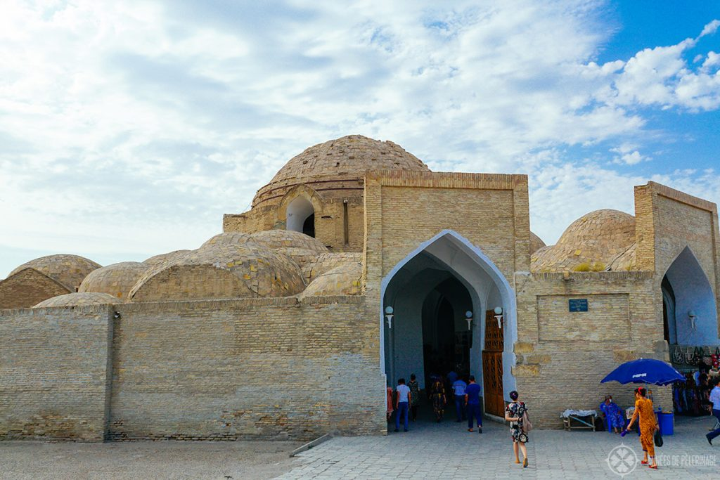 the adobe cupolas of the trading domes in Bukhara Uzbekistan
