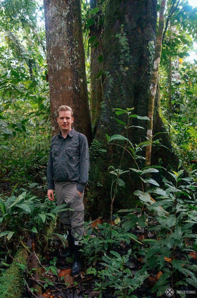 Me on an a tour through the amazon rainforest in Ecuador