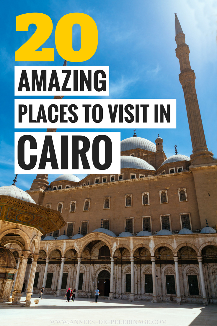 The 20 best things to do in Cairo, Egypt. Find out about the most visited tourist attraction in Cairo. Believe me, there are just so many things to see in Egypt's capital, you don't want to miss. It's not just the Pyramids of Giza and the Egyptian Museum. This Cairo travel guide will show you the lesser known points of interest and the best photography spots. CLick for more information. #Cairo #Egypt #travel #travelguide #Africa #culturetravel