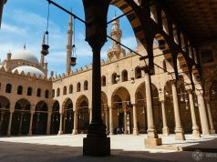 Al-Nasis Muhammad Mosque inside the cairo citadel egypt